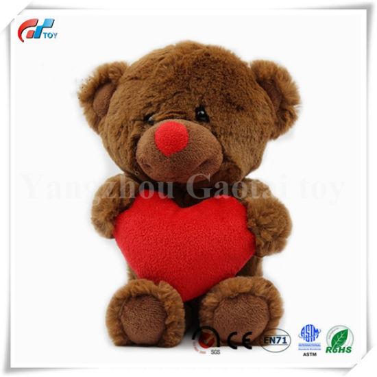Customized Valentine's Gift Brown Teddy Bear