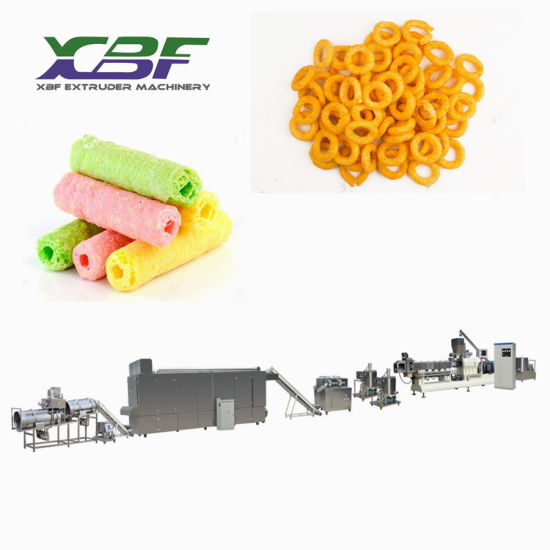 Hot Sale Inflating Extrusion Snacks Food Corn Puff Processing Line