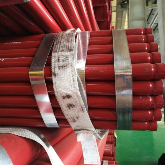 ASTM A795 Top Quality Q235 Fire Fighting Steel Pipe with Red Panited