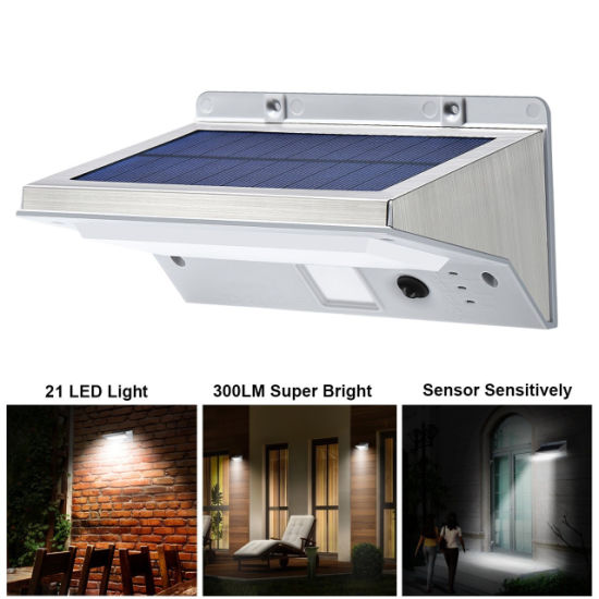 Led Solar Light Wall Mount Garden Path Fence Courtyard Lamp Outdoor