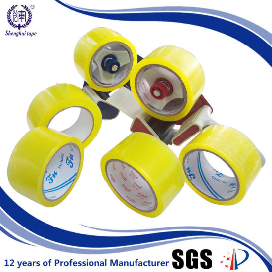 Customized Widely Used Acrylic Glue Yellowish BOPP Packaging Tape pictures & photos