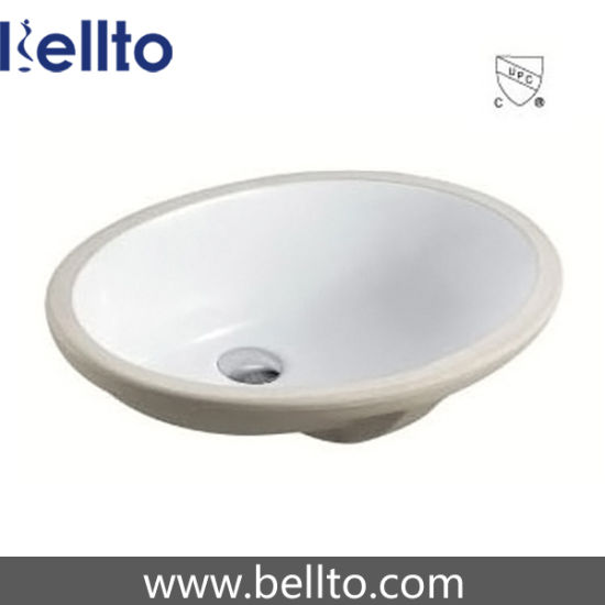 Oval under mounted Sink with quartz stone vanity top (207)