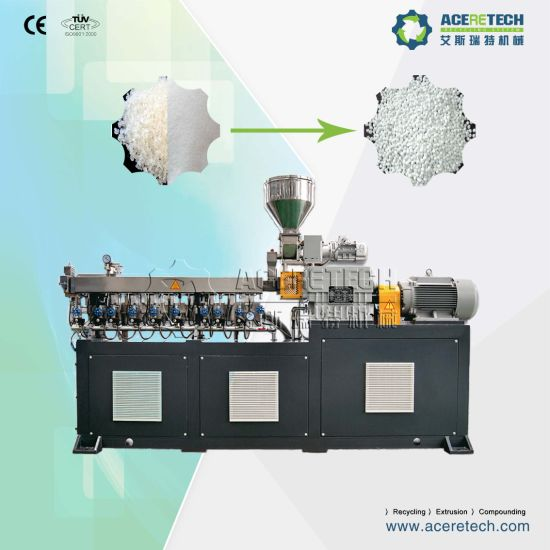 Twin Screw CaCO3 Filler Masterbatch Extruding Pelletizing Granulating Machine pictures & photos
