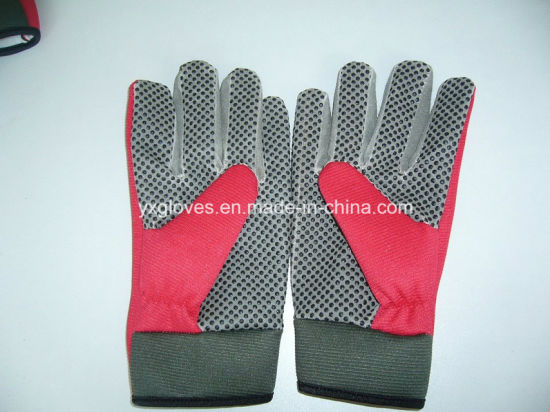 Safety Glove-Work Glove-PVC Dotted Glove-Labor Glove-Industrial Glove-Weight Lifting Glove pictures & photos