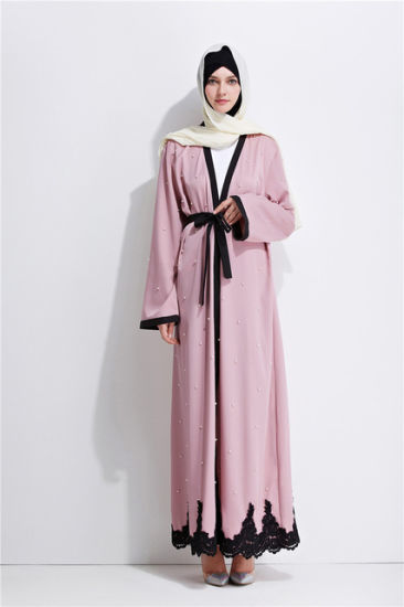 Muslim Arab Dubai Islamic Abaya The Beading Cardigan Large Dress Clothes.  Get Latest Price d9f8ec79978