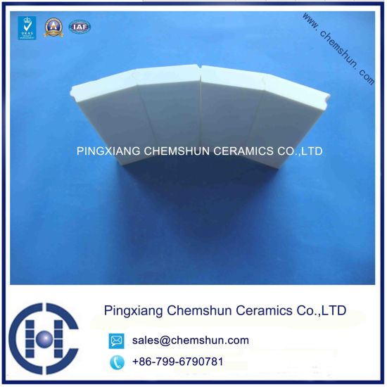 China Aluminum Oxide Ceramic Pipe Liner Tile For Steel