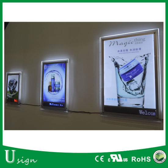 Wall Mounting Framelss Acrylic LED Digital Picture Frame pictures & photos