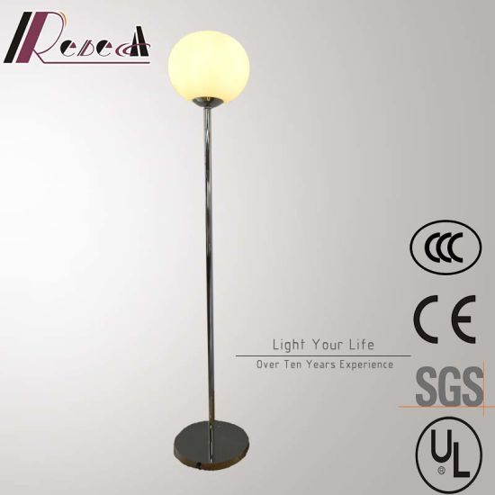 China modern hotel decorative stainless steel round glass ball modern hotel decorative stainless steel round glass ball standing floor lamp aloadofball Gallery