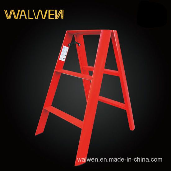 Plastic-Sprayed Double Folding Aluminum Step Ladder pictures & photos