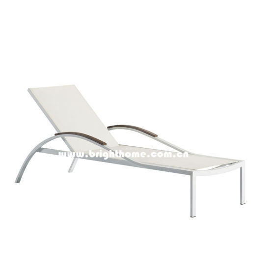 Hot Sale Aluminum and Textilene Outdoor Sun Lounger pictures & photos