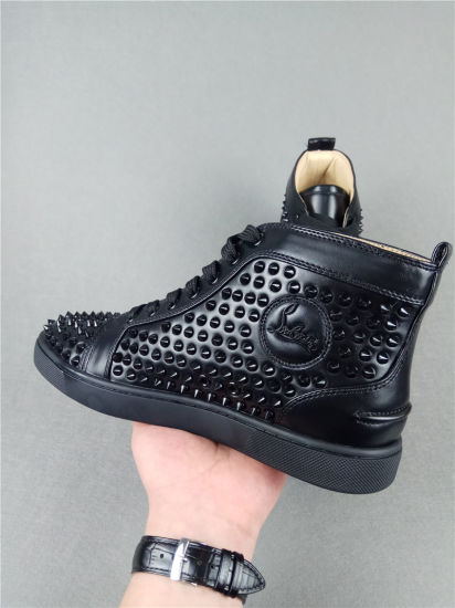 892b5efd149e Fashion Designer Brand Studded Spikes Flats Shoes Red Bottom Shoes for Men  and Women Party Lovers Genuine Leather Sneakers