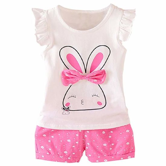 Baby Girl Clothes Summer Product Garments Outfits Short Sets pictures & photos