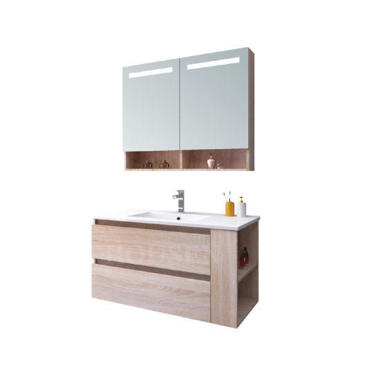 Melamine Bathroom Vanity Bathroom Mirror Cabinet LED Copper Free Mirror