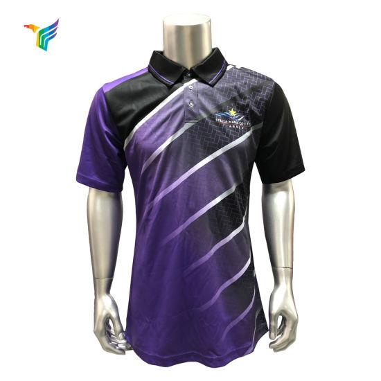 504b46f79 2019 New Style 100%Polyester Polo T-Shirt Custom Sublimation Polo T Shirt  Men′s Golf Polo Shirt
