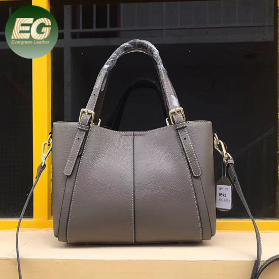 China Factory Wholesale Real Leather Handbag Lady Tote Bag Emg5531
