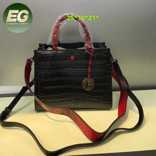 Classical Fashion Crocodile Leather Handbag Women Tote Bag Emg5487