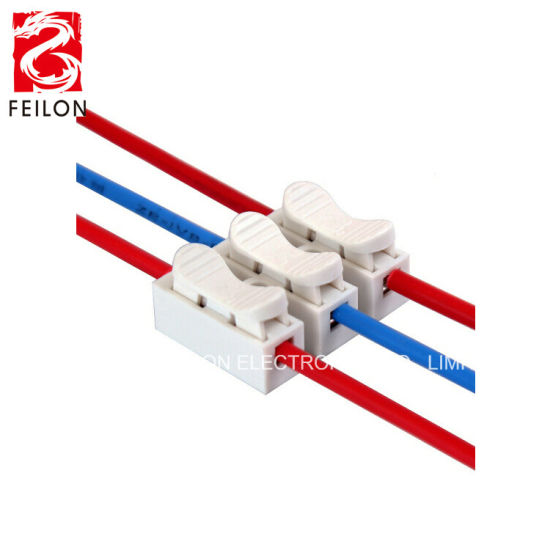 CH-3 Quick Terminal for LED Ceiling Light 3-Position Terminal Block Self-Locking Push-Type Lamp Wire Connector Screwless Spring Feed Throgh Terminal Connector