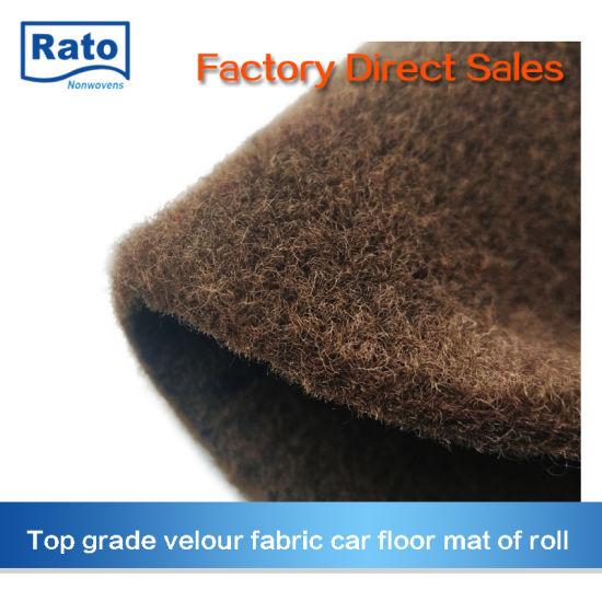 Pet Velour Surface Car Floor Mat Car Carpet Roll