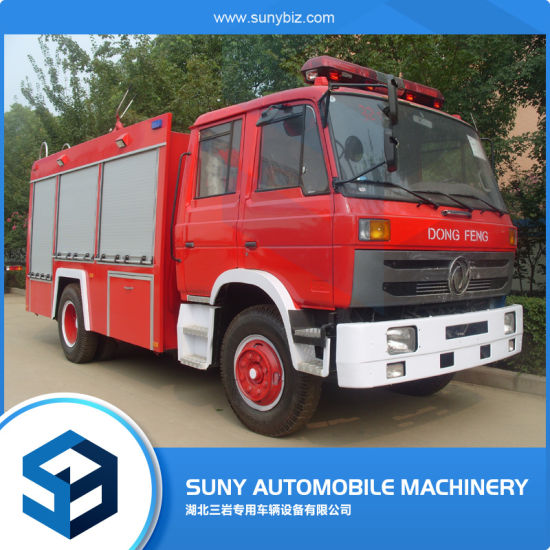Factory Directly Sale Dongfeng 153 Cab 190HP 4*2 2axles 7-9cbm Water and Foam Tank Rescue Vehicle Diesel Fire Engine Fire Fighting Truck Special Truck