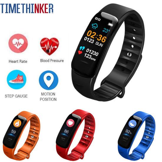 Timethinker C1s Smart Band Wristband Fitness Bracelet Watch Heart Rate  Blood Pressure Monitor GPS Motion Activity Tracker Reloj