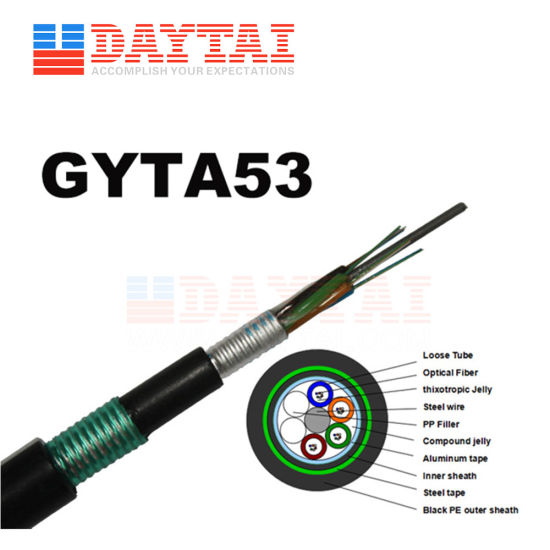 Aerial Duct Direct Burial GYTA53 Fiber Optical Cord Cable