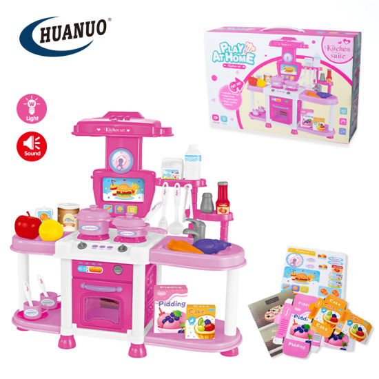 Kids New Wholesale Pretend Play Kitchen Set Toy