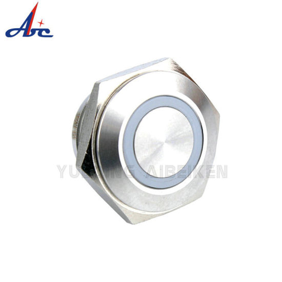 IP67 Waterproof Momentary Ring LED Light 19mm Push Button Switch