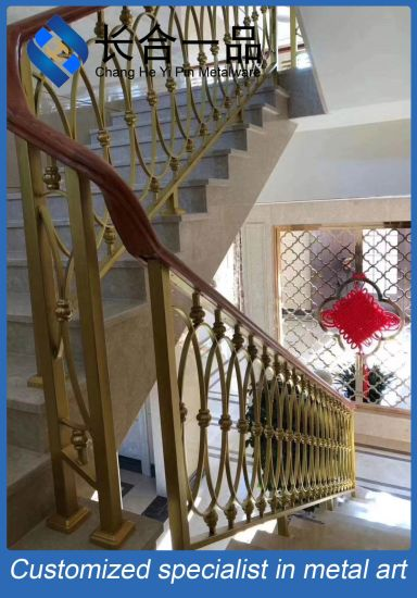 Factory Manufacture Customized Gold Stainless Steel Stair Handrail
