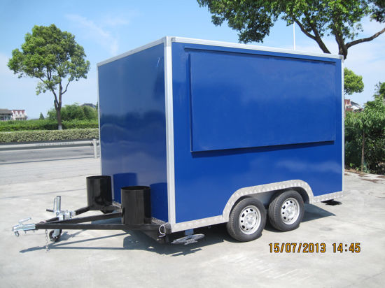 Big Sliding Window Professional Outdoor Mobile Fast Food Van (SHJ-MFS300) pictures & photos