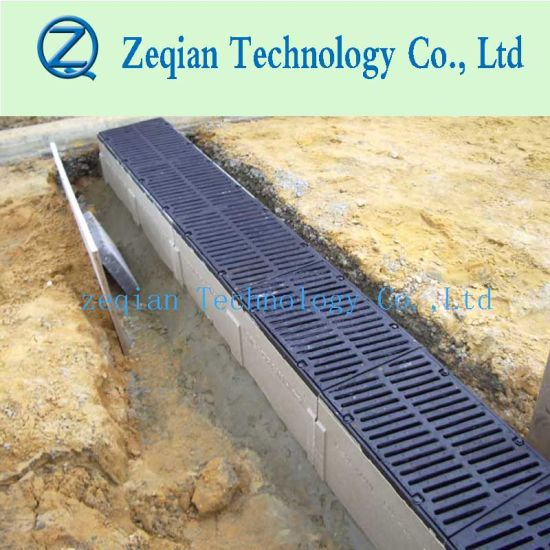 China Polymer Concrete Drain Channel With Iron Edge Stainless