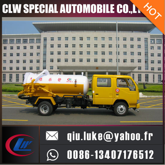 Low Price and Hot Sale! Dongfeng 4X2 Double Cabinet Sewage Suction Truck pictures & photos
