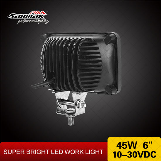 "4""X6"" 45W Square Sealed LED Headlight for Truck pictures & photos"