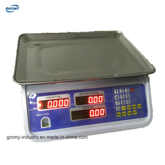 Electronic Price Computing Scale Table Scale with OIML Approved