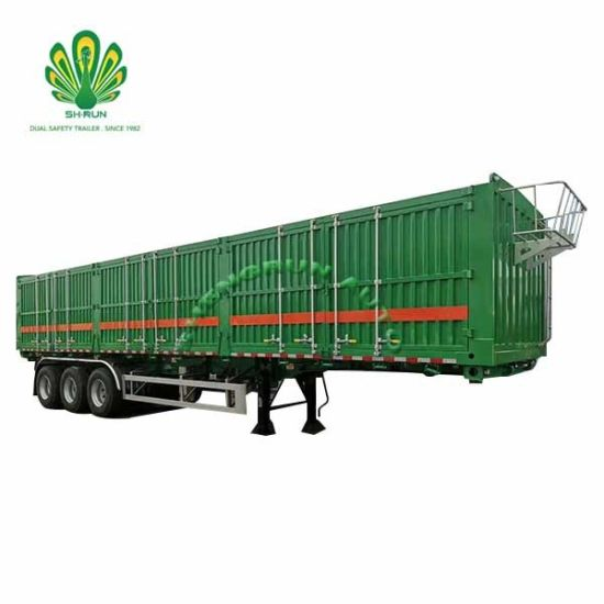 Logistics Enclose Cargo Box Semi Trailer with Side Open Door pictures & photos