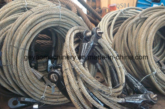 China Ungalvanized 6*25 Eye Wire Rope Sling with Open Spelter Socket ...