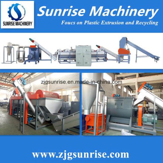 Sunrise Machinery Factory Price Waste Plastic Film Bags Washing Recycling Machine