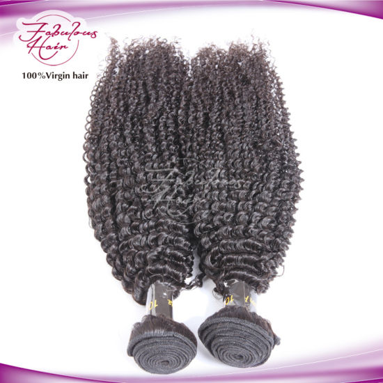 Attractive Natural Hair Weft Tangle Free Peruvian Kinky Curly Hair pictures & photos