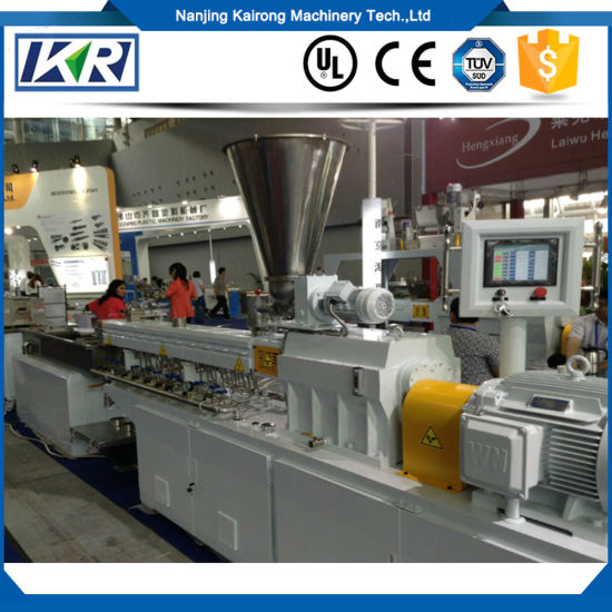Mini Plastic Pellet Polymer Compounding Parallel Co-Rotating Twin Screw  Extruder Price