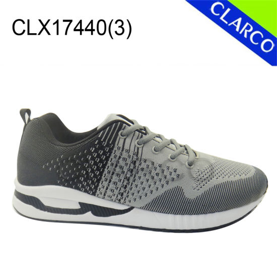 Fkyknit Mesh Upper Men Sports Running Shoes pictures & photos