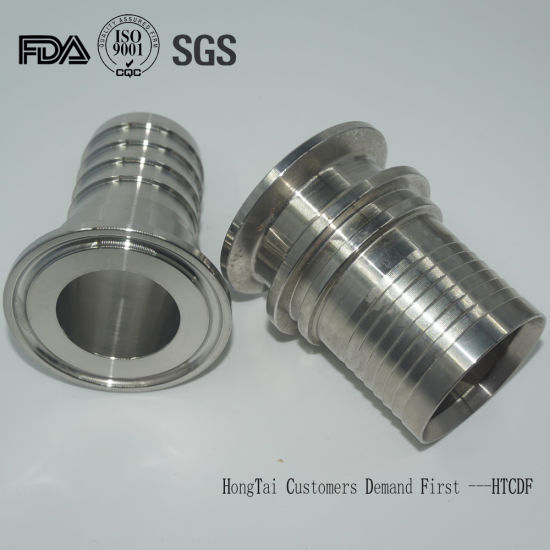 Stainless Steel Hygienic Aseptic Tri-Clamp Pipe Fittings Hose Adapter