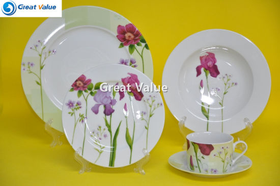 Wholesale 20 Pieces Porcelain Western Style Dinner Set : western style dinnerware sets - pezcame.com