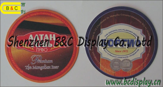 Factory Supply Paper Drink Coasters, Beer Coaster, Absorbed Place Mats (B&C-G118) pictures & photos