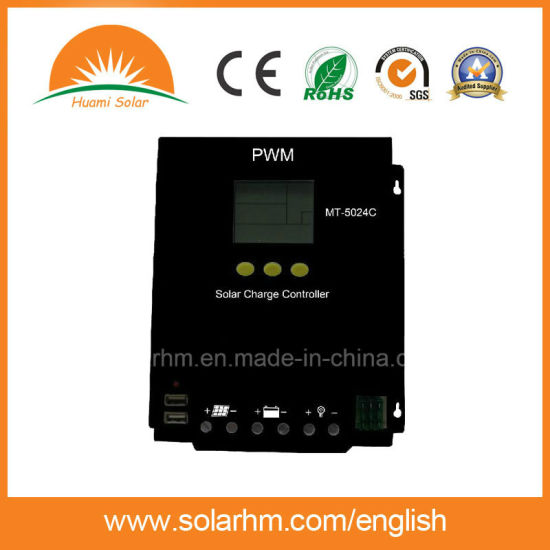 (HM-1240) Guangzhou Factory 12V/24V40A PWM LCD Screen Solar Charge Controller pictures & photos