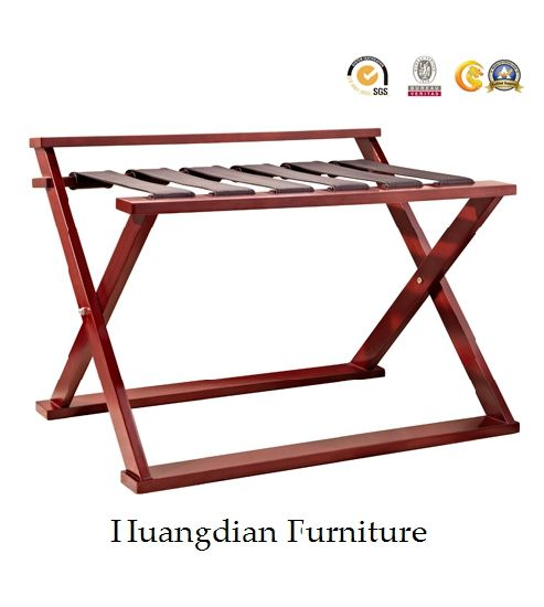 Foldable Solid Wood Luggage Rack For Budget Hotel (HD991)