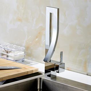 Kitchen Bar Sink Faucet Deck Mounted Mixer Taps Chrome