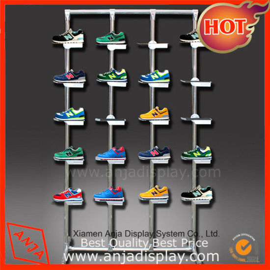 Perfect Design Clear Metal/Wooden/MDF Shoe Display Fixutre for Shop