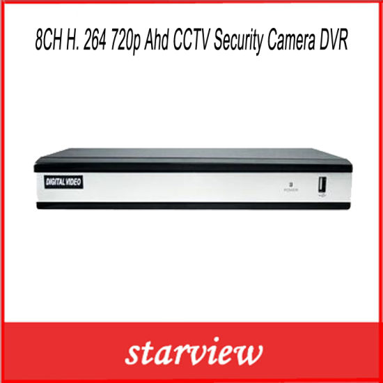 8CH H. 264 720p Ahd CCTV Security Camera DVR pictures & photos