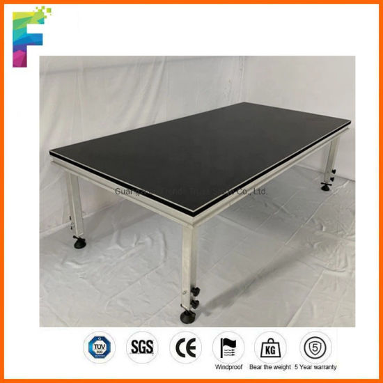 Stage Equipment Outdoor Mobile Aluminum Alloy Portable Wooden Stage