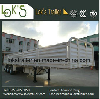 40 Feet 3 Axles Side Drop Trailer pictures & photos