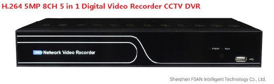 Fsan 1 HDD H. 264 5MP 8CH Hybrid HD Five in One Video Recorder CCTV DVR